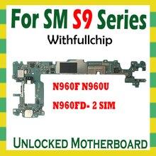 Originele Ontgrendeld Moederbord Voor Samsung Galaxy Note 9 N960F N960U N960FD 2 Sim Volledige Chips Unlock Logic Board Mainboard Android