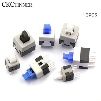 10PCS/LOT 5.8*5.8 7*7 8*8 8.5*8.5mm Self Locking Push Tactile Power Micro Switch Kit 6 Pin Button Switches chenghaoran 5pcs 7 7mm self lock push button switch self locking switch push button tact swith 6pin size 7 7