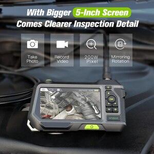 Image 2 - 5 inch Professional HD Borescope Camera Industrial Endoscope Borescope Inspection Camera with Semi Rigid Tube 3500mAh Battery