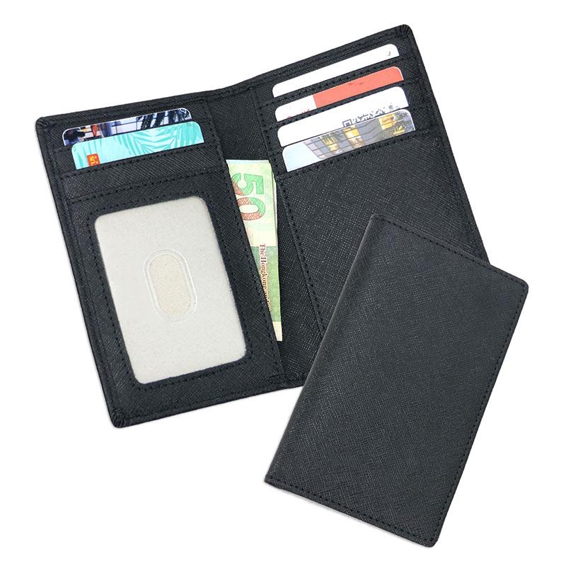 Pocket pu cuir Business ID carte de crédit porte-monnaie étui r