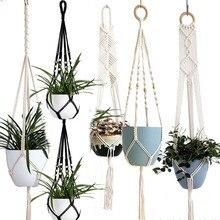 Plant-Hanger Pot-Tray Wall-Decoration Handmade Macrame Flower/pot Countyard/garden-Pot-Tray