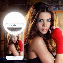 360 الجمال العالمي فلاش ملء كليب كاميرا التصوير Selfie LED مصباح مصمم على شكل حلقة للجوال الهاتف النساء ل فون سامسونج هواوي