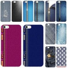 Jeans Zipper Denim Hole Soft TPU Mobile Phone Cases Cover Co