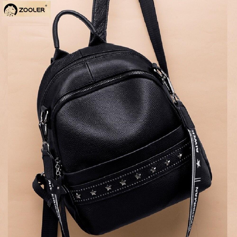 YUPINXUAN большой емкости холщовые кожаные рюкзаки для подростков водонепроницаемые школьные рюкзаки большой износостойкий рюкзак из парусин... - 2
