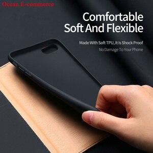 Image 5 - Mode véritable étui en cuir véritable pour Apple iPhone SE 2020 Original DUX DUCIS portefeuille daffaires couverture rabattable pour iPhone SE 2020 étui