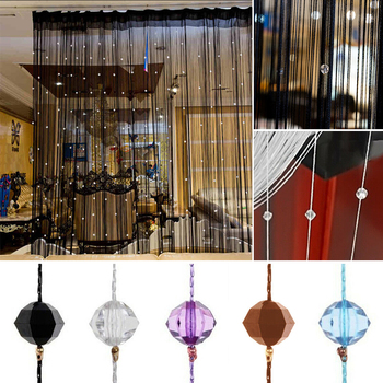 Colorful String Chain Curtain Shiny Tassel Line Curtains Window Door Divider Drape Living Room Decor Valance Home Decoration 1