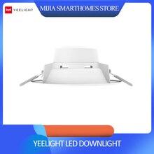 Orijinal xiaomi mijia yeelight led downlight sıcak sarı soğuk beyaz yuvarlak LED tavan gömme ışık değil xiaomi akıllı ev ışık