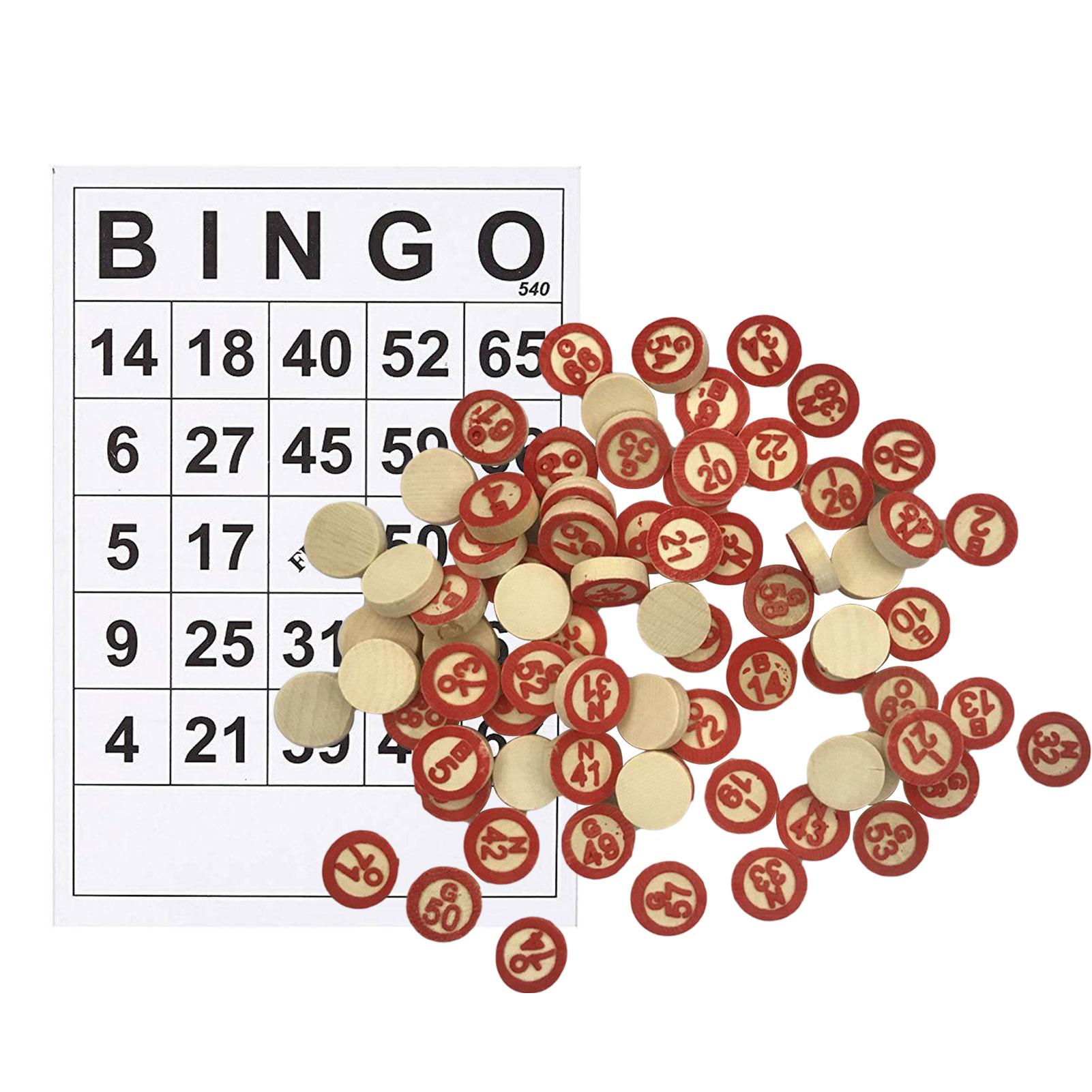 40 шт., партия для игры в бинго, 30 карт для игры в бинго, плюс 75 фишек с цифрами для детей, семейные вечерние интерактивные игры для всей семьи, В...