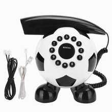Teléfono fijo de fútbol, decoración hogar moda con cableado US/UK