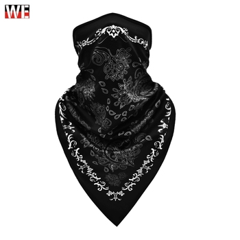 WOSAWE Moto Mask Motorcycle Half Face Printing Balaclava Neck Triangle Scarf Outdoor Breathable Shield Skull