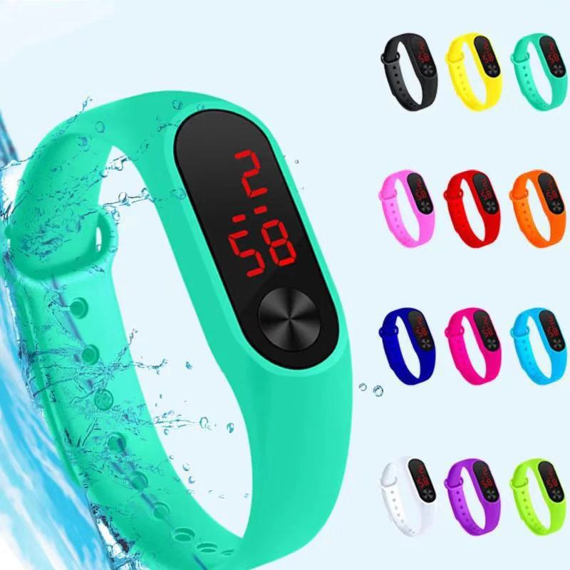 Waterproof Student Couple Touch LED Electronic Watch Sports Kids Hello Cute Girls Boys Kitty Watches Children Gifts Wristwatch
