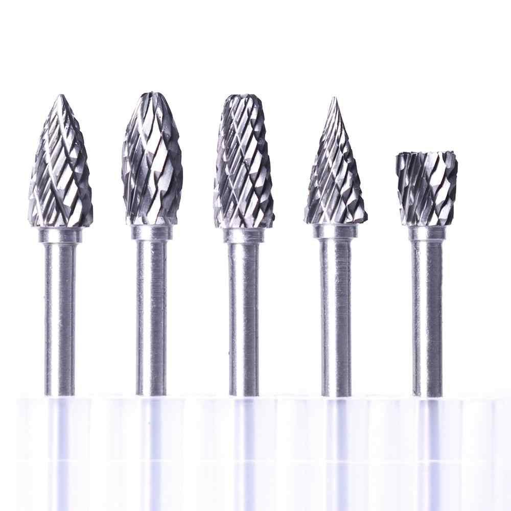 "10 Pcs 1//4/"" Tungsten Head Carbide Steel Burrs Rotary Tool Drill Grinder Bit US"