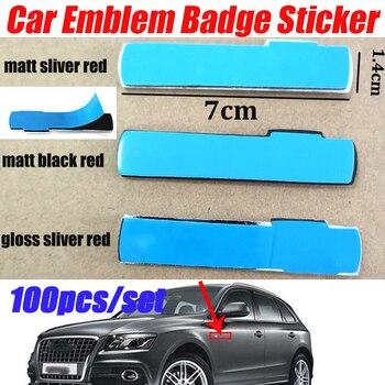 100pcs/set 3D Metal Emblem Badge Decal Car Sticker Car Body Decorative Sticker Car sticker for A1 A2 A3 A4 A5 A6 A7 A8 Q1 Q3 Q5