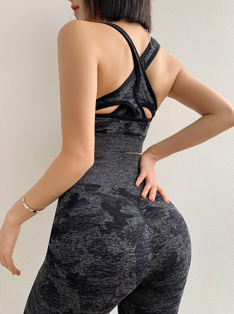 Camouflage Camo Set Wear For Women Gym Fitness Clothing Booty  Leggings Sport Bra Suit 6