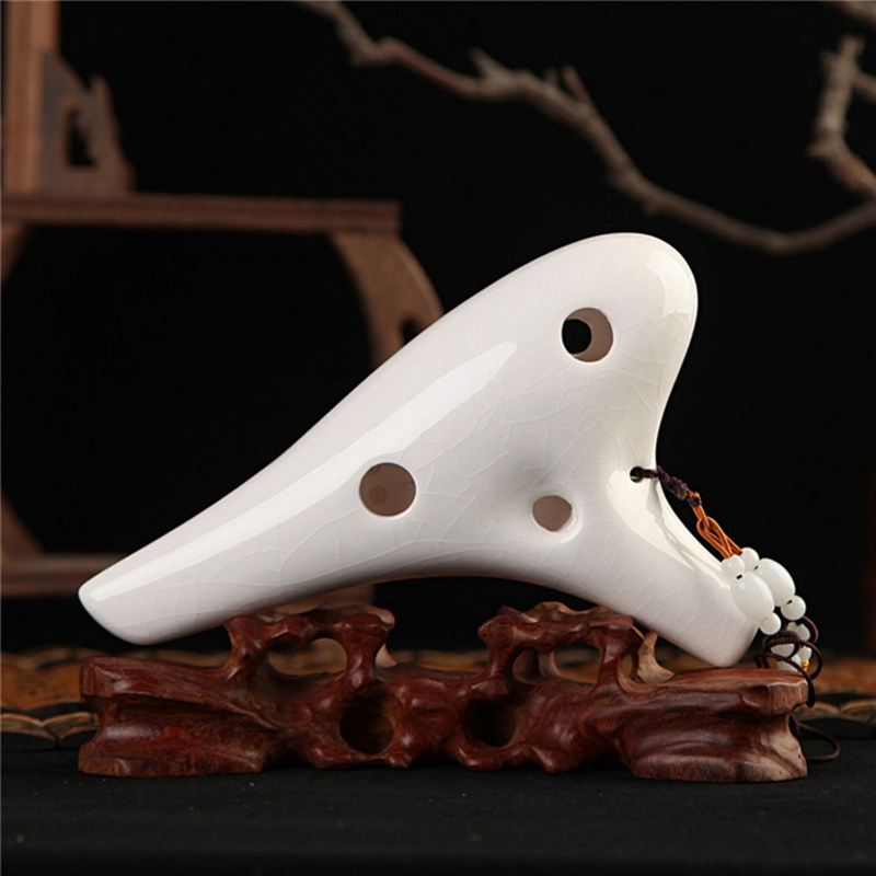 12 Holes Ocarina Of Time Ac Ceramic Flute Woodwind Orff Instrument Natural Sound