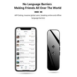 Image 1 - Портативный Умный голосовой переводчик, устройство в режиме реального времени с голосовым переводом 40 +/70 +, электронный языковый переводчик 3 в 1, Bluetooth переводчик
