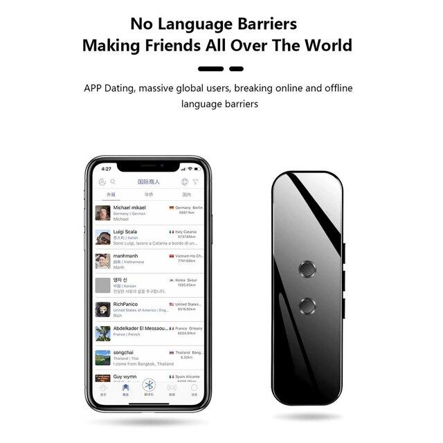 Portable Smart Voice Translator Device Real Time Voice 40+/70+ Language Translator Electronic 3 In 1 Bluetooth Translator