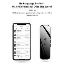 Taşınabilir akıllı ses çevirme cihazı gerçek zamanlı ses 40 +/70 + dil çevirmen elektronik 3 In 1 Bluetooth çevirmen