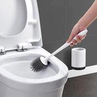 Fashion1set toalete escova de borracha cabeça titular escova de limpeza para banheiro pendurado na parede do banheiro acessórios do banheiro