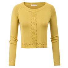 BP sweater women's Cropped Knitwear Coat Long Raglan Sleeves Crew Neck Button Placket pull femme winter clothes women 2019 pink two way wear long sleeves crew neck sexy sweater