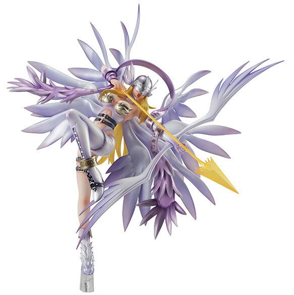 Fighting Girl Action Figure Anime Digimon Monster Adventure Angewomon Action Figure Model Toys Doll 24cm