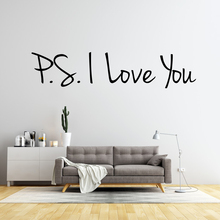 PS I Love You Wall Sticker Infinity Vinyl Removable Inspirational Quotes Art Decal Home Decor Bedroom Living Room Wallpaper