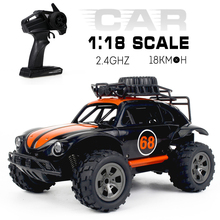 1/18 2.4G 2WD RC Car KY-1816A Scale RC Crawler Off-road Car High Speed Solid Durable RC Car RTR RC Toys Birthday Gifts for Kids