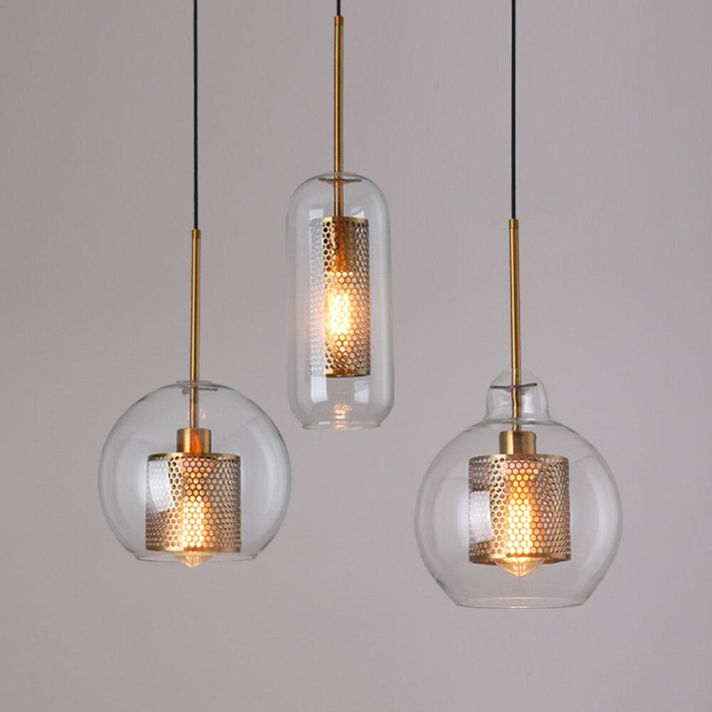 Лофт современный подвесной светильник, стеклянный шар, подвесной светильник, Кухонный Светильник закрепленный светильник, светильник для