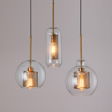 Loft Modern Pendant Light Glass Ball Hanging Lamp Kitchen Light Fixture Dining Hanglamp Living Room Luminaire(China)