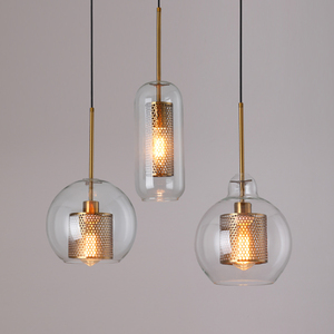 Loft Modern Pendant Light Glass Ball Hanging Lamp Kitchen Light Fixture Dining Hanglamp Living Room Luminaire(China)