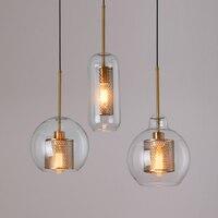 Loft Modern Pendant Light Glass Ball Hanging Lamp Kitchen Light Fixture Dining Hanglamp Living Room Luminaire
