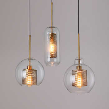 Loft moderne suspension boule de verre suspension lampe cuisine Luminaire salle à manger lampe à suspension salon Luminaire