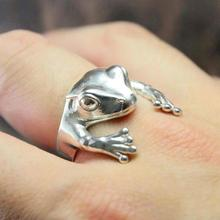 Cute Frog Animal Ring Women  Retro Personality Punk Jewelry Rings