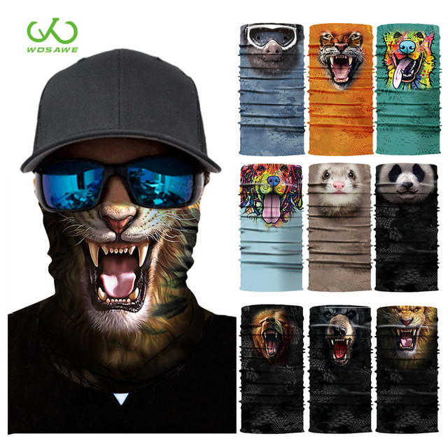 Breathable Motorcycle Face Shield Mask 3D Triangle Neck Balaclava Headband Anti-pollution Cycling Ski Scarf Men Women
