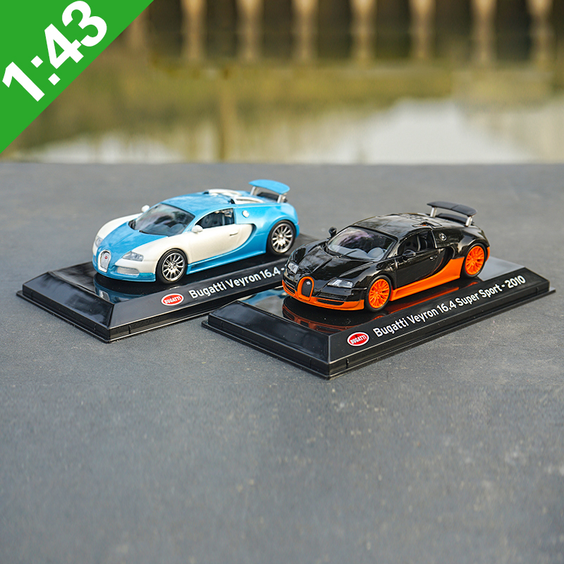 1:43 Bugatti Veyron 16.4 Alloy Model Car Static High Simulation Metal Model Vehicles Original Box For Gifts Collection