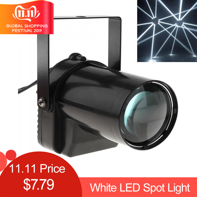 5W LED Spotlight White Beam Pinspot Light 200-220LM Stage Lighting Effect Lamp For DJ Disco / KTV / Bar