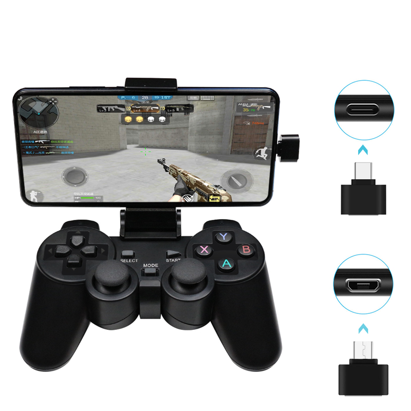 Wireless Gamepad PC For PS3 Android Phone TV Box 2.4G Wireless Joystick Joypad Game Controller Remote For Xiaomi OTG Smart Phone(China)