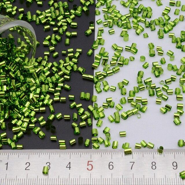 500 グラム/ロット 2*3 ミリメートルシルバーベースbingsuビーズpailletteのパイプスパンコールセンター穴縫製pvc diyの縫製材料緩いスパンコール