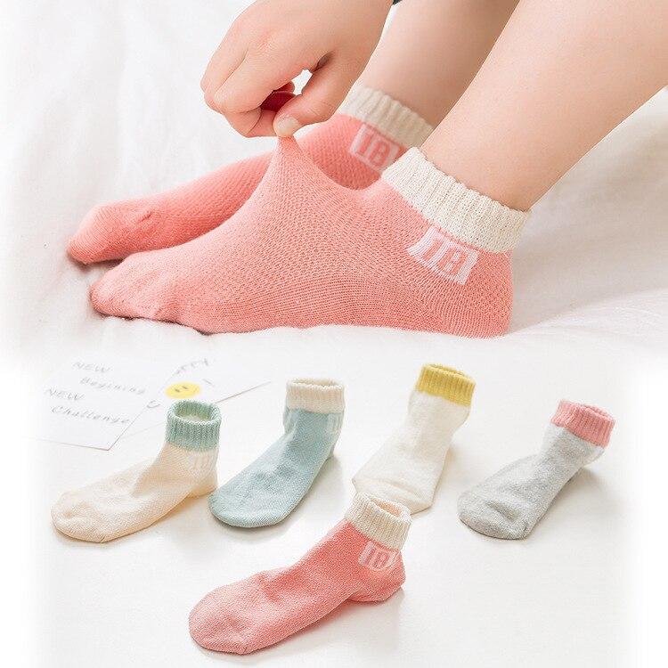 CHILDREN'S Socks Wholesale Thin Type For Spring And Autumn Tube Socks BOY'S Girls Spring Summer Mesh Big Virgin Boy BABY'S Socks