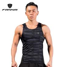 FANNAI Asian M-4XL Men Running Compression Tank Top Vest Gym T Shirts Fitness Sleeveless T-shirts Sports Clothing Jogging