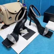 Bling bling scarpe tacco alto donna sparkle paillettes strass punta pista design sandali 2021 stiletti sexy scarpe eleganti da donna