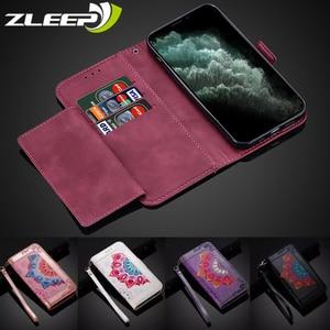 Image 1 - حافظة هاتف جلدية مع حامل بطاقات مغناطيسي لهاتف iPhone ، موديلات متوافقة 6 s ، 7 ، 8 Plus ، SE 2020 ، 11 Pro ، X ، XS Max ، XR ، 12 Mini