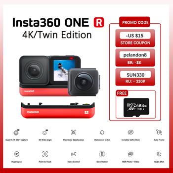 100% Original Insta360 ONER 4K Edition & Twin Edition Action Video Camera 5.7K with 360/4K wide angle waterproof for Sport Cam 1