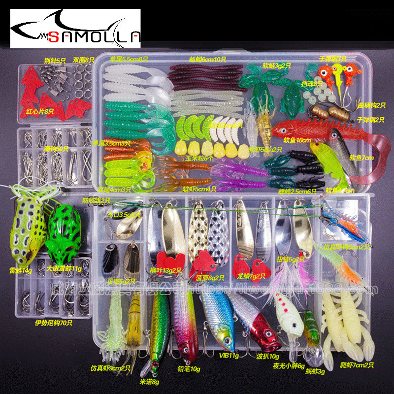 Fishing Lure Set Crankbait Popper Fishing Spoon Spinnerbait Minnow Soft Lure Crank Bait Soft Bait Isca Artificial Bass Jigs