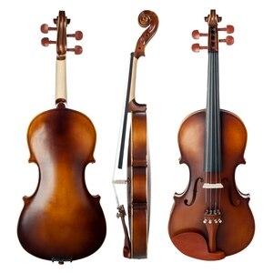 Image 3 - ナオミ音響バイオリン 4/4 フルサイズバイオリンいじる弓ケースブリッジナツメの木のアクセサリー