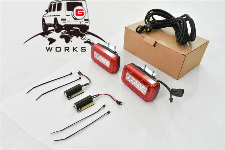rear bumper LED W463 (29)