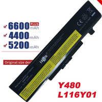 HSW 6 CELLULES batterie d'ordinateur portable pour IdeaPad G580 Y580 Y480 Z480 Y580N121500049 POUR LENOVO G500 Y485N Série