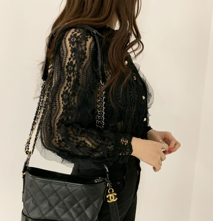 H6364e7ec751f4db090a1d5124706a8d8r - Spring / Autumn Stand Collar Long Sleeves Crochet Flower Lace Blouse