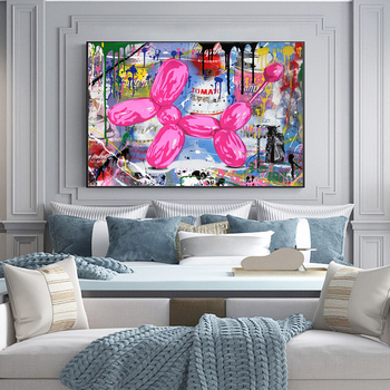 Abstract Street Art Graffiti Painting Printed on Canvas 3