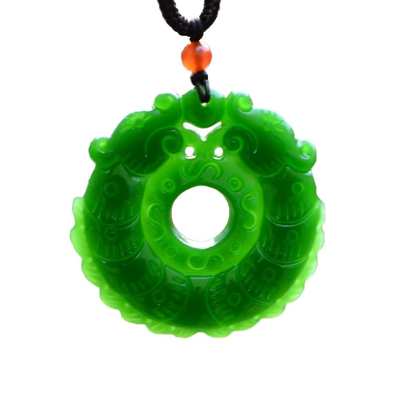 100/% China/'s natural jade nephrite carving black jade pendant 12 zodiac